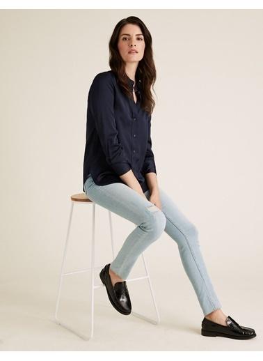 Marks & Spencer Yüksek Bel Jean Pantolon Mavi